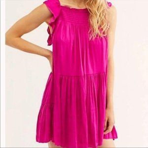 FREE PEOPLE Want Your Love Mini Dress Pink Small